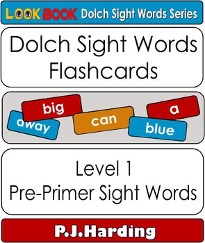 Dolch Sight Words Flashcards. Level1 Pre-Primer Sight Words