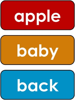 Dolch Sight Words Flashcards. Nouns