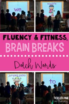Dolch Sight Words Fluency & Fitness Brain Breaks Bundle