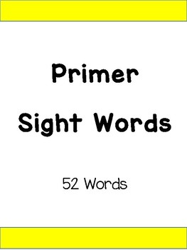 Dolch Sight Words For Word Wall