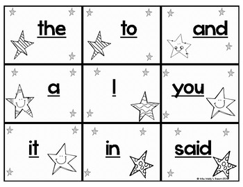Dolch Sight Words Game Cards- pre-k- 3rd grade word lists by frequency