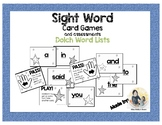 Dolch Sight Words Game Cards- pre-k- 3rd grade word lists