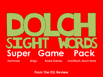 Dolch Sight Words Complete Game Pack - Bingo, Dominoes, Board Games, and More!