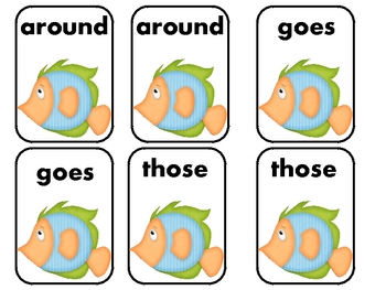 """Dolch Sight Words """"Go Fish"""" 2nd Grade List"""