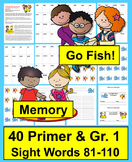 "Sight Word Games ""Go Fish"" & ""Memory"" Sets 5 & 6"