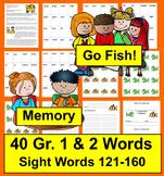 Sight Word Games Go Fish & Memory - Sets 7 & 8