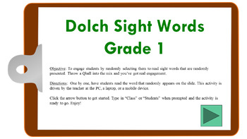 Dolch Sight Words (Gr1) Randomized