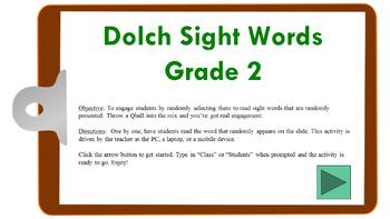 Dolch Sight Words (Gr2) Randomized