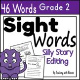 Distance L. covid-19: Dolch Sight Words: Grade 2: Fun fluency reading/editing