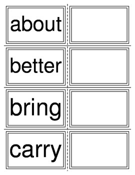 Dolch Sight Words Grade 3