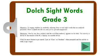Dolch Sight Words (Gr3) Randomized