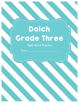 Dolch Sight Words Grade 3 Worksheets