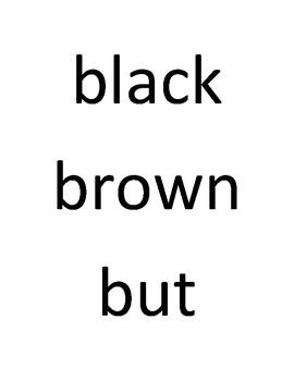 Dolch Sight Words Grade K
