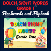 Dolch Sight Words Grade One Digital Flipbook, Printable Fl