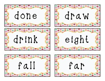 Dolch Sight Words Grade Three