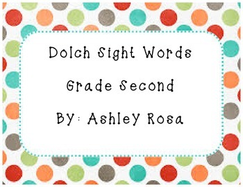 Dolch Sight Words Grade Two