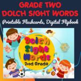 Dolch Sight Words Grade Two Digital Flipbook, Printable Fl
