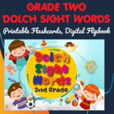 Dolch Sight Words Grade Two Digital Flipbook, Printable Fl