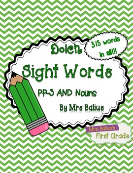 Dolch Sight Words {Green Chevron} Word Wall