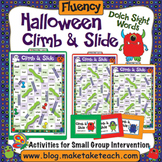 Dolch Sight Words - Halloween Themed Climb and Slide