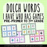 Dolch Sight Words I Have, Who Has Games