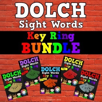 Dolch Sight Words  KEY RING BUNDLE