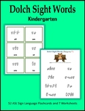 Dolch Sight Words (Kindergarten) - ASL Sign Language Flash