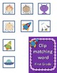 Dolch Sight Words First Grade Clip / Clothespin Cards - Space Theme