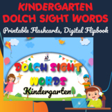 Dolch Sight Words Kindergarten Digital Flipbook, Printable