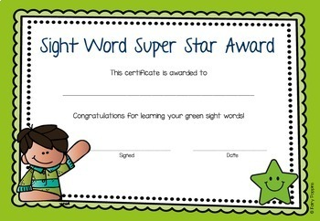 Dolch Sight Words Kit - Word Cards, Home Words, Certificates & Checklists