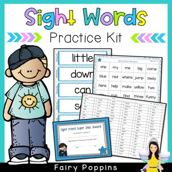 Dolch Sight Words Kit - Word Cards, Home Words, Certificat