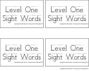 Dolch Sight Words: Level 1 (Super Reading Cards)
