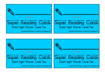 Dolch Sight Words: Level 2 (Super Reading Cards)