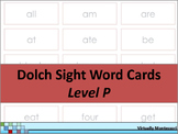 Dolch Sight Words Level P Cards and Memory Game