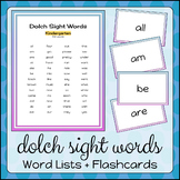 Dolch Sight Words | Lists + Flashcards