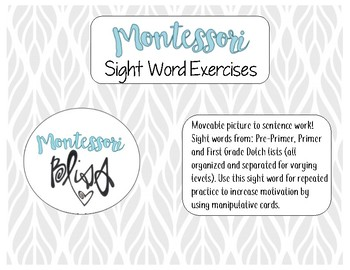 Dolch Sight Words Manipulative / Movable Activity