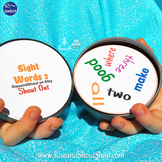"""Dolch Sight Words Matching Game Shout Out Set 2; 31, 3"""" &"""