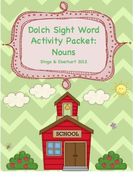 Dolch Sight Words - Noun Activity Packet