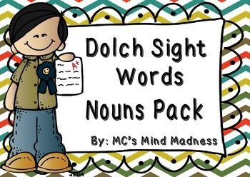 Dolch Sight Words Noun Pack