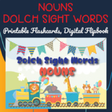 Dolch Sight Words Nouns Digital Flipbook, Printable Flashcards