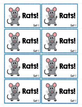 Dolch Sight Words - Oh Rats!