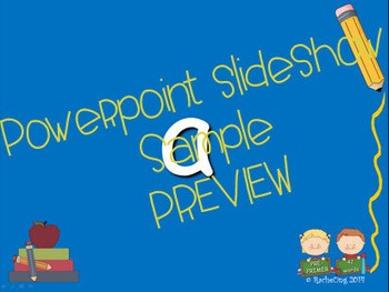 Dolch Sight Words PRE-PRIMER [Bookmarks, Flashcards, Powerpoint and more]