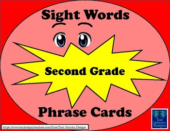 Sight Words Phrase Cards - Second Grade