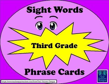 Sight Words Phrase Cards - Third Grade