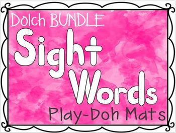 Dolch Sight Words Play-Doh Mats BUNDLE (Pre-Primer-3rd Grade)