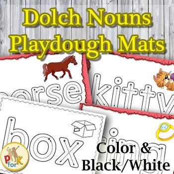 Dolch Sight Words Playdough Mats