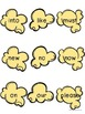 Dolch Sight Words - Popcorn Words - Primer (Kindergarten) Word Wall Cards