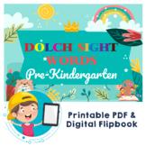 Dolch Sight Words Pre-Kindergarten Digital Flipbook, Print