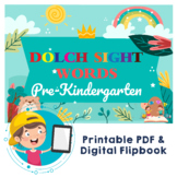 Dolch Sight Words Pre-Kindergarten Digital Flipbook, Print