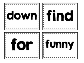 Dolch Sight Words Flash Cards (Pre-Primer)
